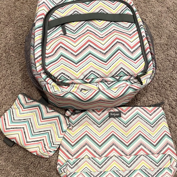 Thirty-One travel backpack with chill bag and more